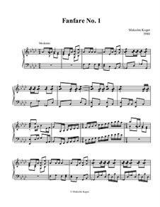 Four simple Pieces for organ manuals: Four simple Pieces for organ manuals by Malcolm Kogut