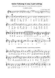 Italian folksongs album for 2 voices: Italian folksongs album for 2 voices by folklore