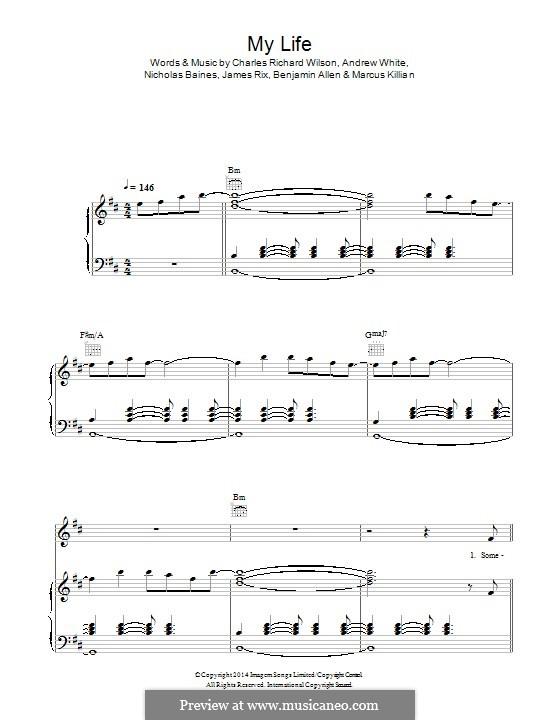 My Life (Kaiser Chiefs): Для голоса и фортепиано (или гитары) by Andrew White, Benjamin Allen, James Rix, Nicholas Baines, Marcus Killian, Charles Wilson