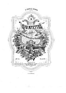 Квинтет ре минор для фортепиано, двух скрипок, альта и виолончели, Op.11: Партитура by Рене де Буадефр