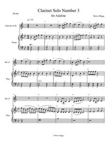 Clarinet Solo Number 3: Clarinet Solo Number 3 by Dawn Higgs