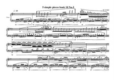 5 Simple pieces for piano: Tenth book No.3, MVWV 784 by Maurice Verheul