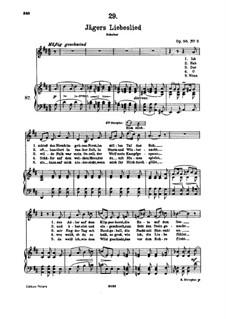 Jägers Liebeslied (Huntsman's Love Song), D.909 Op.96 No.2: Для высокого голоса и фортепиано by Франц Шуберт
