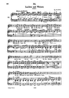 Lachen und Weinen (Laughter and Tears), D.777 Op.59 No.4: Для высокого голоса и фортепиано by Франц Шуберт