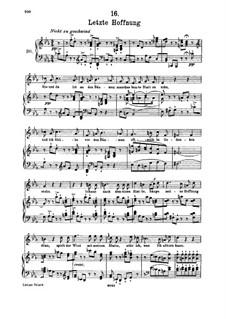 No.16 Последняя надежда: Для высокого голоса и фортепиано by Франц Шуберт