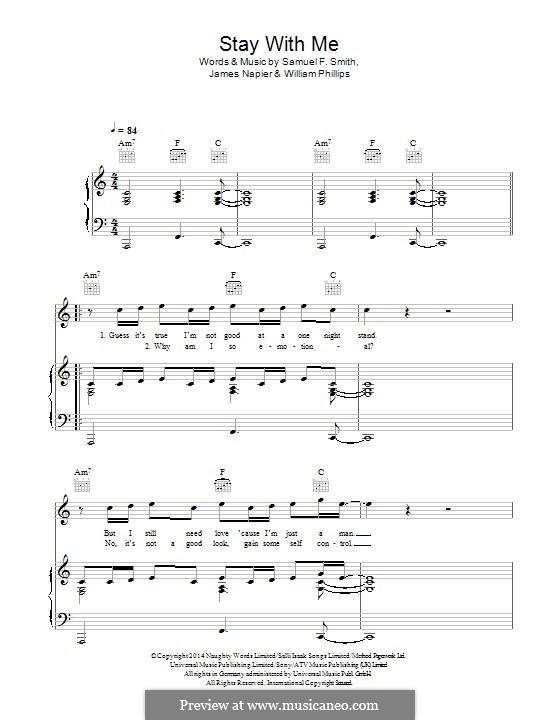 Stay with Me: Для голоса и фортепиано (или гитары) by Samuel F Smith, James Napier, William Phillips