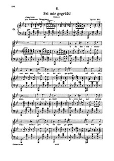 Sei mir gegrüsst (I Greet You), D.741 Op.20 No.1: Для высокого голоса и фортепиано by Франц Шуберт