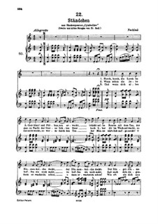 Серенада 'Horch, horch die Lerch im Ätherblau', D.889: Для высокого голоса и фортепиано by Франц Шуберт