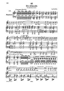 Die Allmacht (The Almighty), D.852 Op.79 No.2: Для высокого голоса и фортепиано by Франц Шуберт