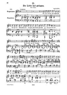 Die Liebe hat gelogen (Love has Lied), D.751 Op.23 No.1: Для высокого голоса и фортепиано by Франц Шуберт
