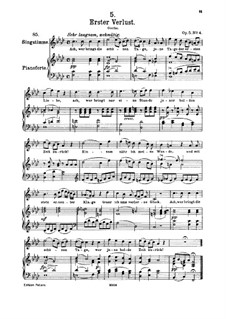 Первая утрата, D.226 Op.5 No.4: Для высокого голоса и фортепиано by Франц Шуберт