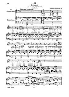 Литания, D.343: Для голоса и фортепиано by Франц Шуберт