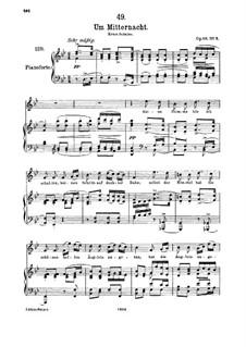 Um Mitternacht (At Midnight), D.862 Op.88 No.3: Для высокого голоса и фортепиано by Франц Шуберт