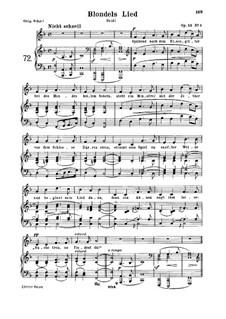 Романсы и баллады, Op.53: No.1 Blondels Lied, for medium voice and piano by Роберт Шуман
