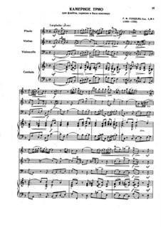 Трио-соната фа мажор, HWV 389 Op.2 No.4: Партитура, партии by Георг Фридрих Гендель