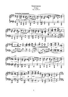 Семь фантазий, Op.116: No.6 Интермеццо ми мажор by Иоганнес Брамс