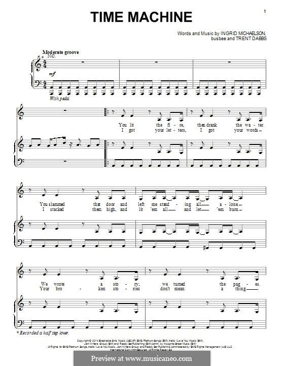 Time Machine: Для голоса и фортепиано (или гитары) by Busbee, Ingrid Michaelson, Trent Dabbs