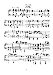 Четыре пьесы, Op.119: No.4 Рапсодия by Иоганнес Брамс