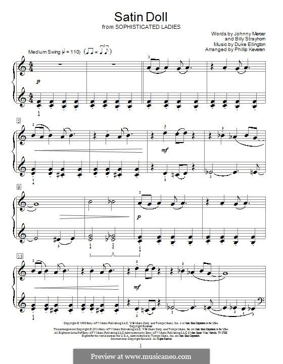 Satin Doll, for Piano: Для одного исполнителя by Billy Strayhorn, Duke Ellington