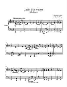 Cailin Mo Ruinsa: For solo piano by folklore
