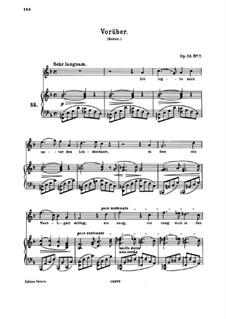 Восемь песен, Op.58: No.7 Vorüber by Иоганнес Брамс