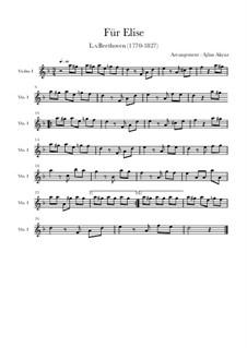 К Элизе, WoO 59: Для скрипки и фортепиано by Людвиг ван Бетховен