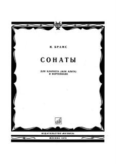 Сонаты для кларнета (или альта) и фортепиано, Op.120: Сборник by Иоганнес Брамс