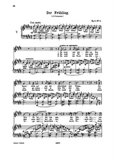 Six Songs, Op.6: No.2 Der Frühling (The Spring) by Иоганнес Брамс