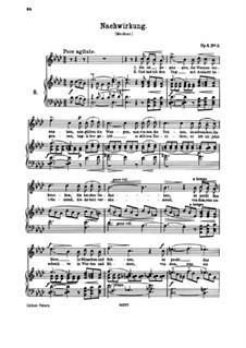 Six Songs, Op.6: No.3 Nachwirkung (Aftermath) by Иоганнес Брамс