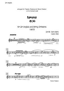 Романс для валторны (или виолончели) с оркестром, Op.36: Version for cor anglais (french horn) and strings - cor anglais part by Камиль Сен-Санс