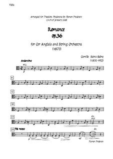 Романс для валторны (или виолончели) с оркестром, Op.36: Version for cor anglais (french horn) and strings - viola part by Камиль Сен-Санс
