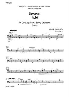 Романс для валторны (или виолончели) с оркестром, Op.36: Version for cor anglais (french horn) and strings - cello part by Камиль Сен-Санс