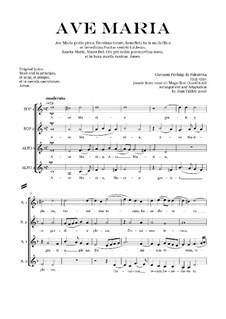 Аве Мария: Вокальная партитура by Джованни да Палестрина