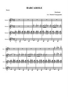 Баркарола: For four guitars by Жак Оффенбах