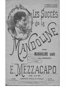 Les Succès de la Mandoline: 3me recueil by Eduardo Mezzacapo