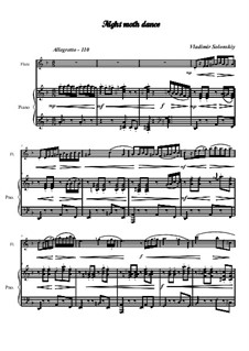 Танец ночного мотылька: Для флейты и фортепиано by Владимир Солонский