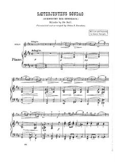 Sæterjentens Søndag (The Herdgirl's Sunday): Версия для скрипки и фортепиано by Оле Булл