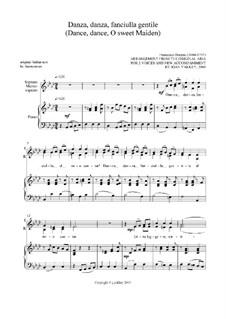 Danza danza fanciulla gentile: For SA voices by Франческо Дуранте