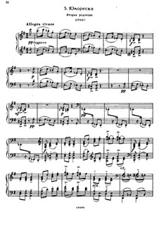 Семь салонных пьес, Op.10: No.5 Юмореска (Вторая редакция) by Сергей Рахманинов