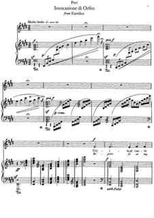 Эвридика: Invocazione di Orfeo, for voice and piano by Джакопо Пери