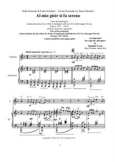 Serenade - Al mio gioir il ciel si fa sereno - Soprano and piano: Serenade - Al mio gioir il ciel si fa sereno - Soprano and piano, CSar/212 by Франц Шуберт