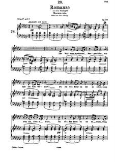 Romanze 'Der Vollmond strahlt auf Bergeshöh'n': Версия для голоса и фортепиано by Франц Шуберт