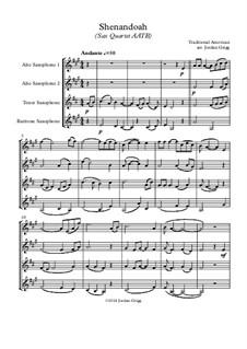 Shenandoah: For sax quartet AATB by folklore