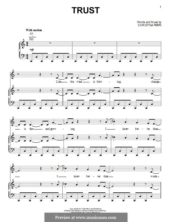 Trust: Для голоса и фортепиано (или гитары) by Christina Perri