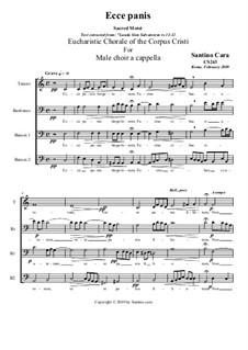 Ecce panis (Eucharistic Chorale) for male choir a cappella, CS243: Ecce panis (Eucharistic Chorale) for male choir a cappella by Santino Cara