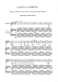 Cantu a timuni: Cantu a timuni by folklore