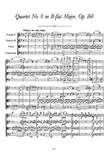 Струнный квартет No.8 си-бемоль мажор, D.112 Op.168: Партитура by Франц Шуберт