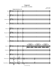 Nightfall (for chamber ensemble): Nightfall (for chamber ensemble) by Jordan Grigg