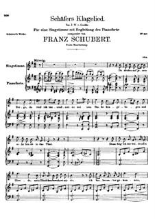 Жалобная песнь пастуха, D.121 Op.3 No.1: Для высокого голоса и фортепиано by Франц Шуберт