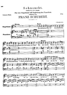 Sehnsucht (Longing), D.123: G Major by Франц Шуберт